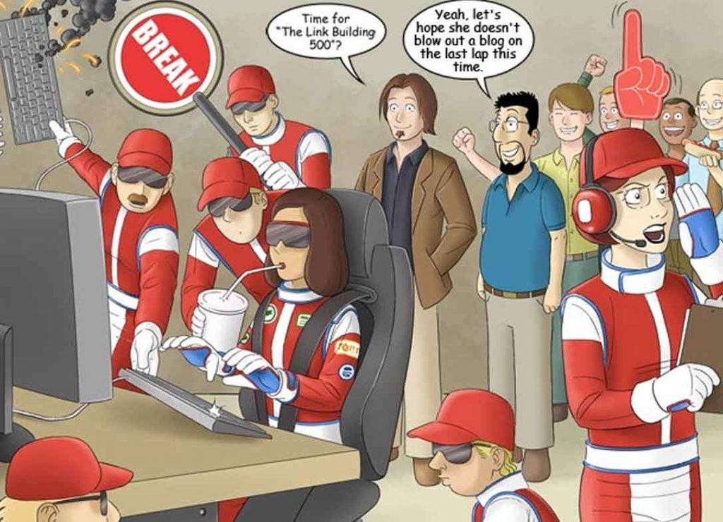 Recruitment Wed Design SEO comic