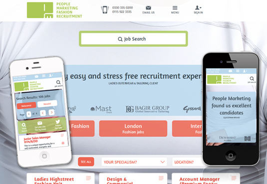 Responsive designs are core to Reverse Delta's FXRecruiter product for recruiters